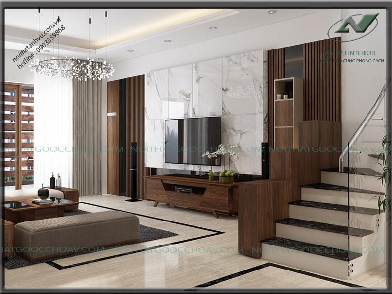 Thiết kế nội thất nhà đẹp hiện đại - Nội thất Anh Vũ