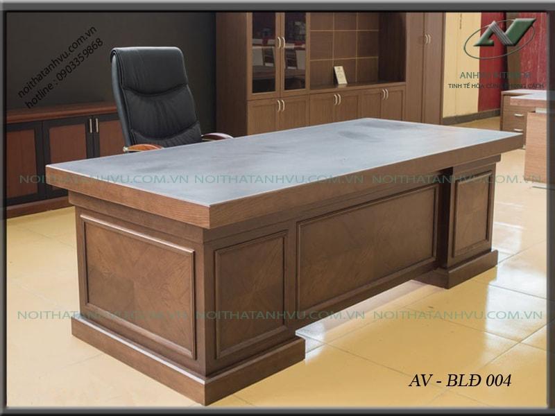 Mẫu bàn giám đốc gỗ tự nhiên cao cấp - Nội thất Anh Vũ