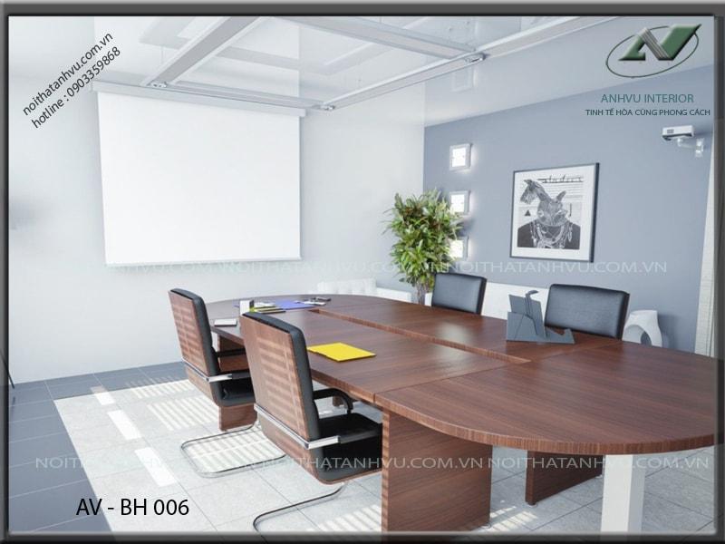 bàn họp văn phòng đẹp cao cấp - Nội thất Anh Vũ