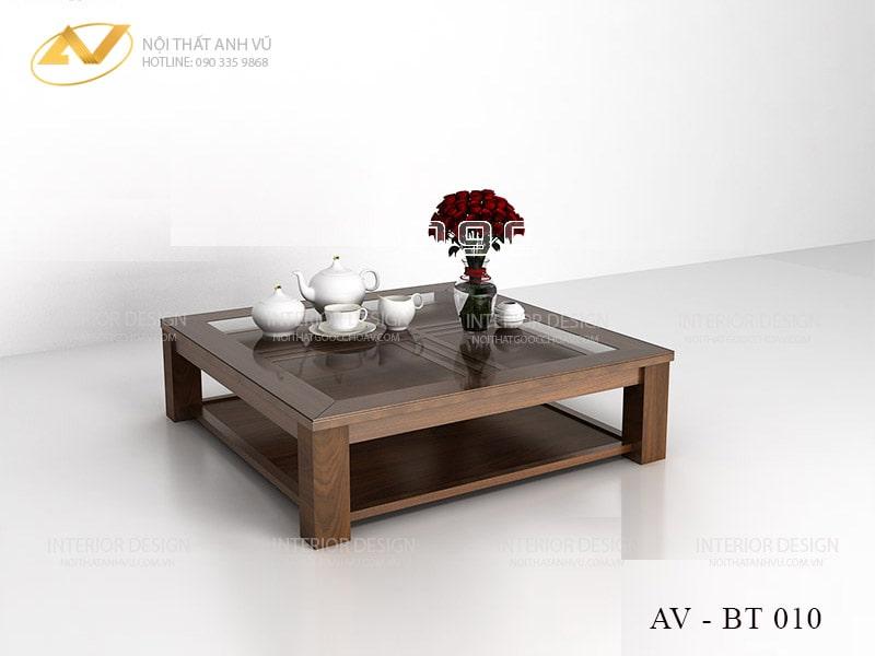 Bàn trà gỗ óc chó hiện đại tại nội thất Anh Vũ