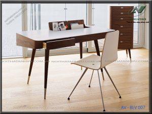 bàn làm việc gỗ óc chó đẹp - Nội thất Anh Vũ