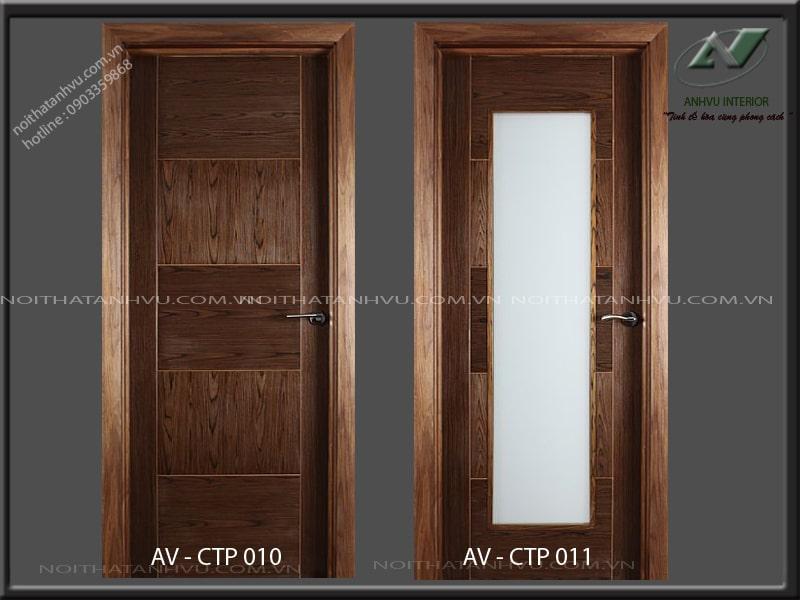 Mẫu cửa gỗ óc chó cao cấp - Nội thất Anh Vũ