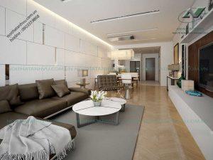 Nội thất phòng khách chung cư Park Hill hiện đại - Nội thất Anh Vũ