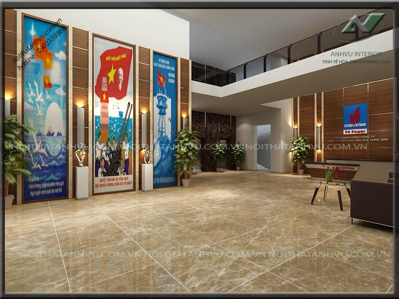 Thiết kế nội thất văn phòng làm việc hiện đại - Nội thất Anh Vũ
