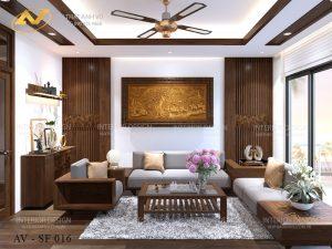 Bộ bàn ghế sofa gỗ óc chó cao cấp - Nội thất Anh Vũ