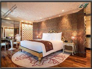 Thi công phòng ngủ khách sạn sang trọng - Nội thất Anh Vũ