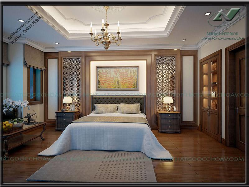 Thiết kế nội thất biệt thự đẹp sang trọng - Nội thất Anh Vũ