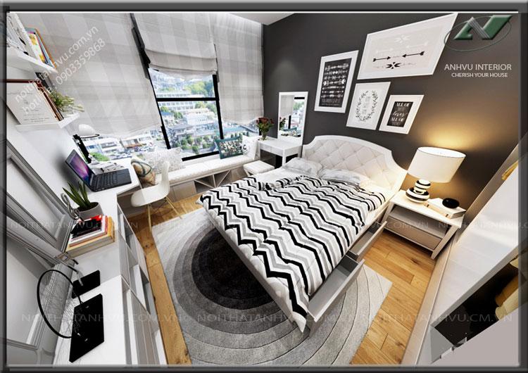 Thiết kế nội thất chung cư cao cấp - Nội thất Anh Vũ