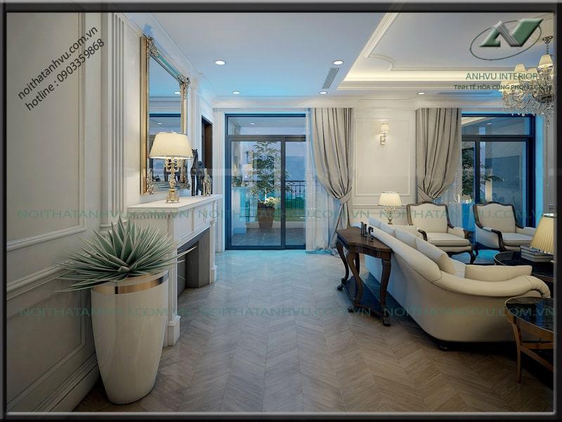 Thiết kế nội thất chung cư tân cổ điển - Nội thất Anh vũ