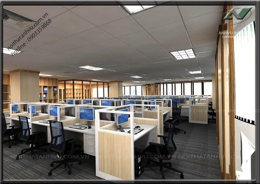 Thiết kế nội thất văn phòng chuyên nghiệp - Nội thất Anh Vũ