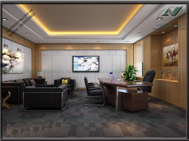 Thiết kế nội thất văn phòng công ty đẹp - Nội thất Anh Vũ