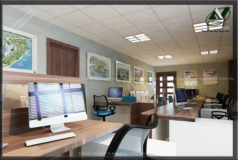 Thiết kế nội thất văn phòng hiện đại - Nội thất Anh Vũ