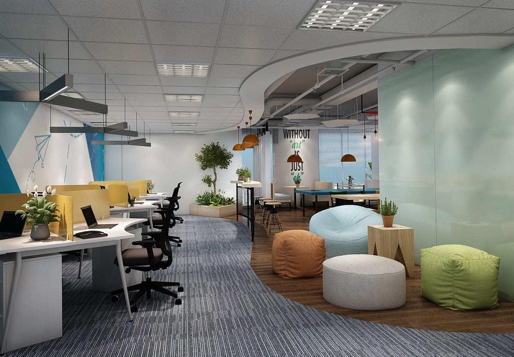 Thiết kế nội thất văn phòng nhẹ nhàng - Nội thất Anh Vũ