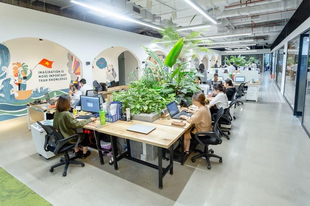 Thiết kế nội thất văn phòng xanh - Nội thất Anh Vũ