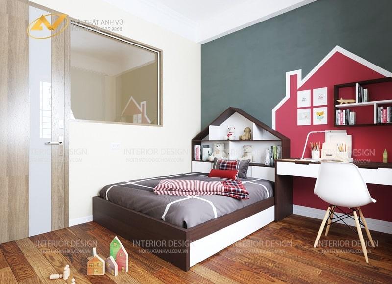 Thiết kế nội thất chung cư 2 phòng ngủ đơn giản - Nội thất Anh Vũ