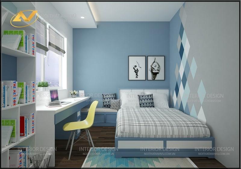 Thiết kế nội thất phòng ngủ trẻ em biệt thự đẹp ecopark - nội thất Anh Vũ