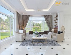 Thiết kế nội thất biệt thự đẹp ecopark - nội thất Anh Vũ