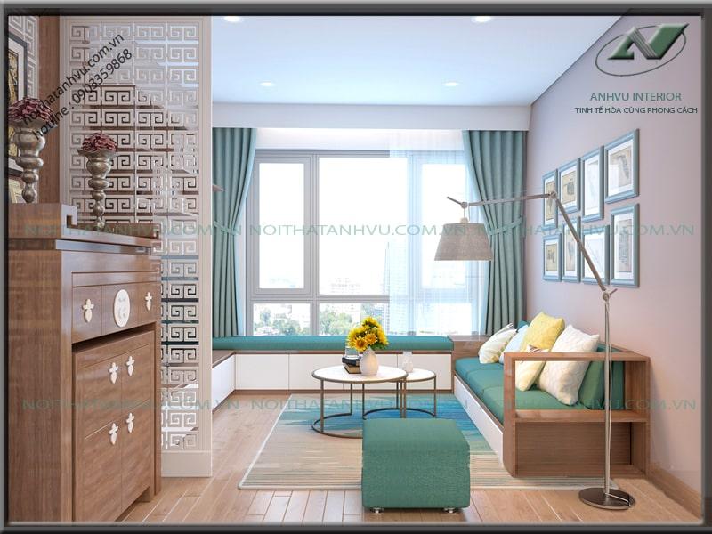 Thiết kế nội thất chung cư sang trọng - Nội thất Anh Vũ