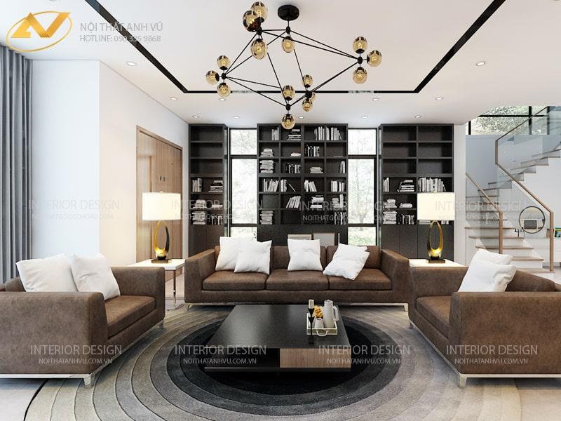 Thiết kế nội thất biệt thự sang trọng -Nội thất Anh Vũ