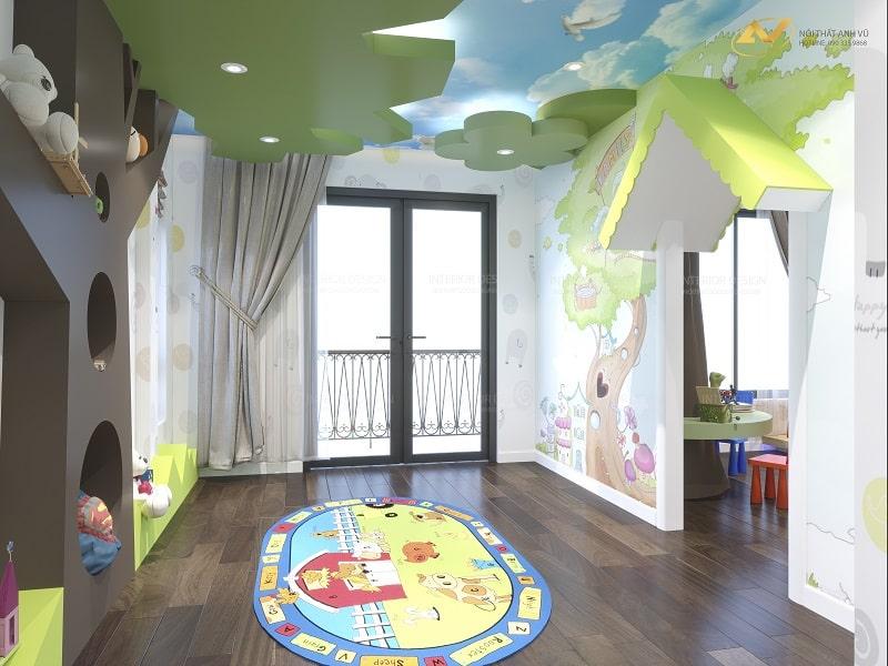 Thiết kế nội thất phòng ngủ trẻ em - Nội thất Anh Vũ
