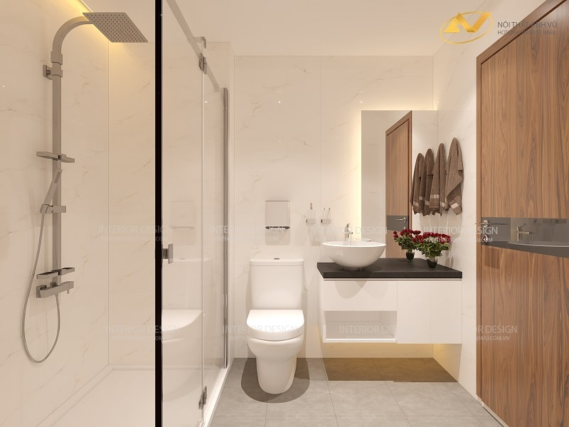 Thiết kế nội thất phòng tắm đẹp - Nội thất Anh Vũ