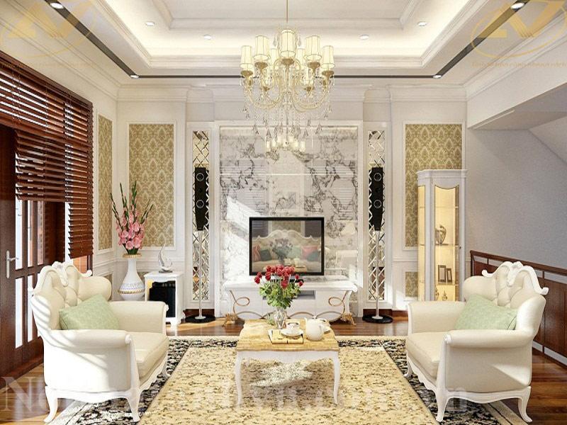 Thiết kế nội thất biệt thự tân cổ điển - Nội thất Anh Vũ