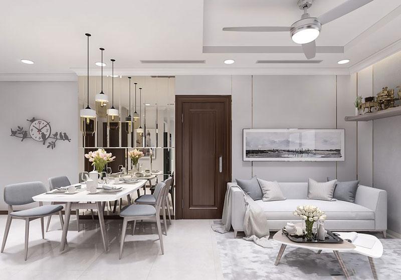 Thiết kế nội thất căn hộ 80m2 - Nội thất Anh Vũ