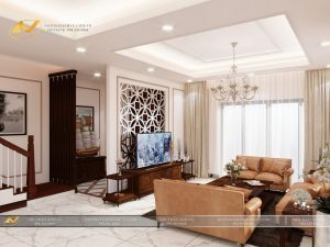 Thiết kế nội thất biệt thự hiện đại - Nội thất Anh Vũ
