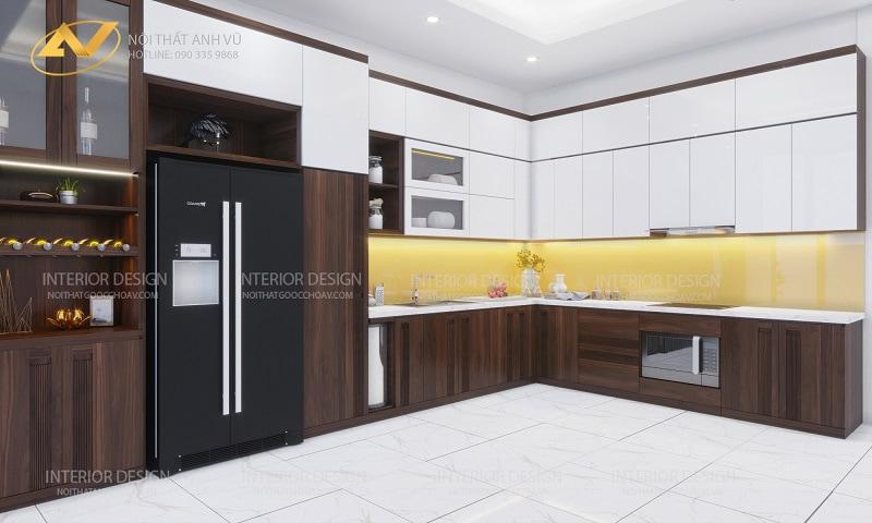 Thiết kế nội thất nhà phố hiện đại - Nội Thất Anh Vũ