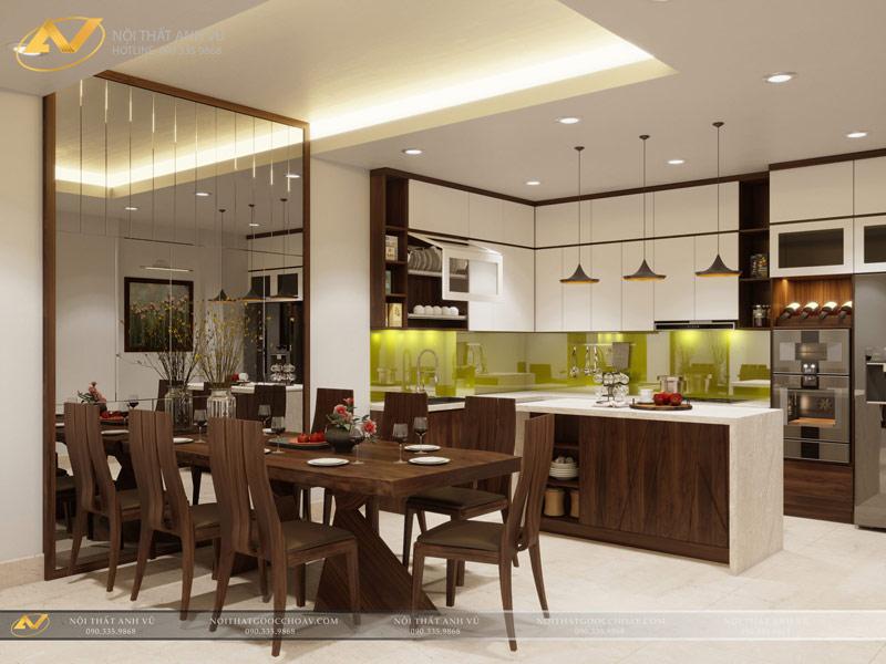 Nội thất phòng bếp hiện đại - Nội thất Anh Vũ