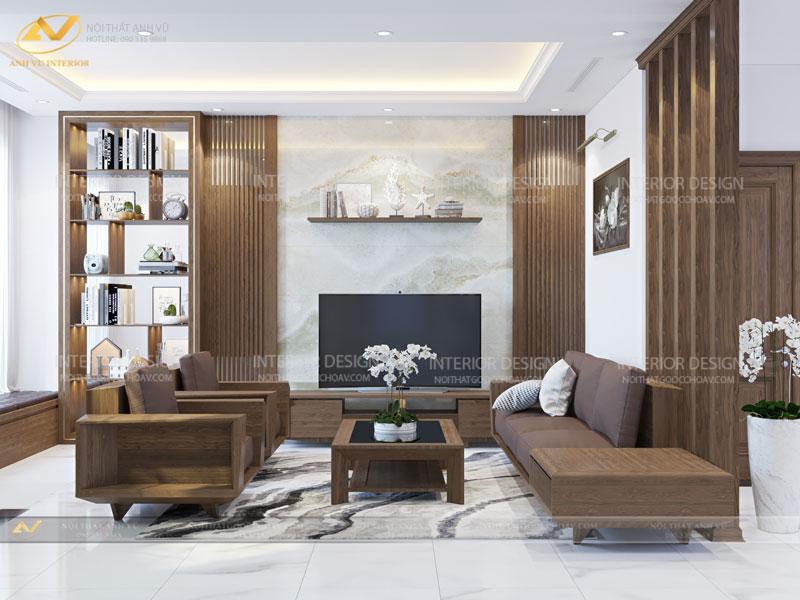 Thiết kế nội thất biệt thự cao cấp Mr Hà