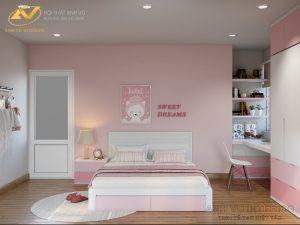 Thiết kế nội thất phòng ngủ cho bé giá - Nội thất Anh Vũ