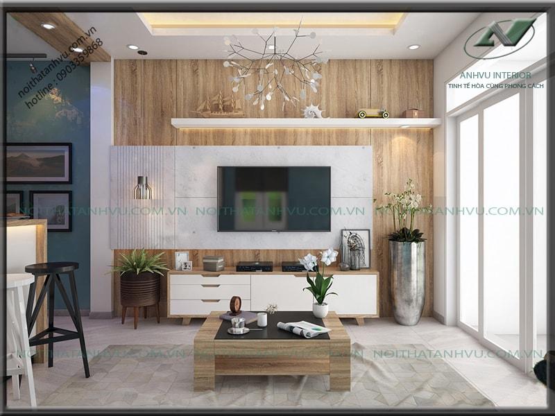 Thiết kế nội thất nhà nhỏ đẹp - Nội thất Anh Vũ