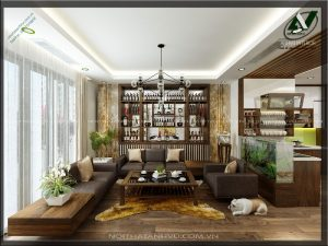 Thiết kế nội thất nhà sang trọng - Nội thất Anh Vũ