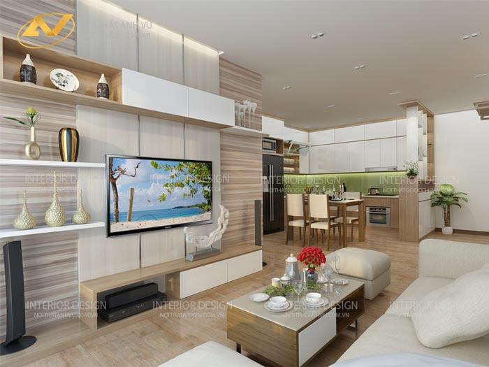 tinh tế và cuốn hút trong mẫu thiết kế nội thất chung cư tại Hoàng Mai