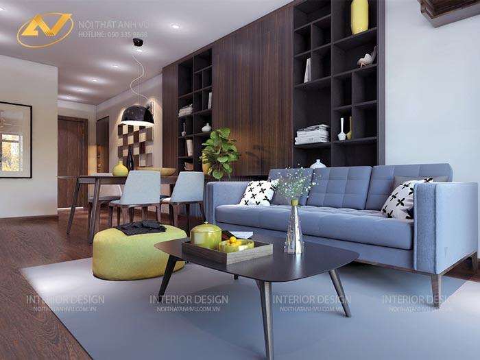thiết kế thi công nội thất chung cư anh Đạt Five Star