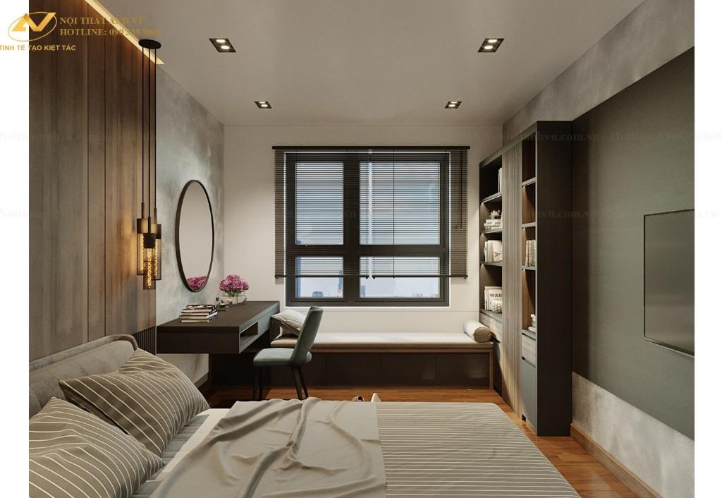 Mẫu thiết kế nội thất chung cư 70m2 hiện đại số 2