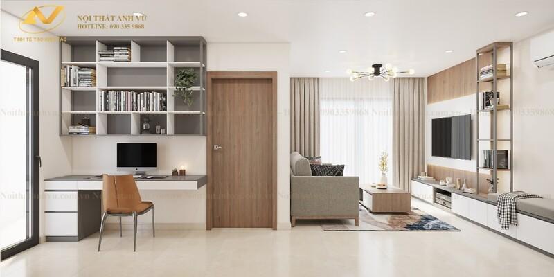 Mẫu thiết kế nội thất chung cư 70m2 số 4-4