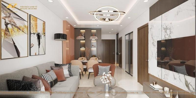 Mẫu thiết kế nội thất chung cư 70m2 số 5-2