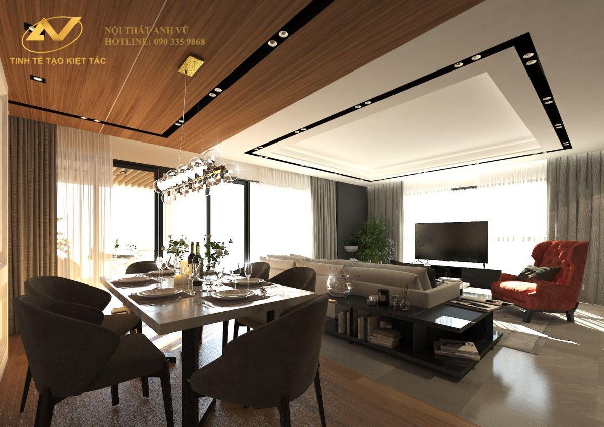 Mẫu thiết kế phòng khách căn hộ chung cư số 2