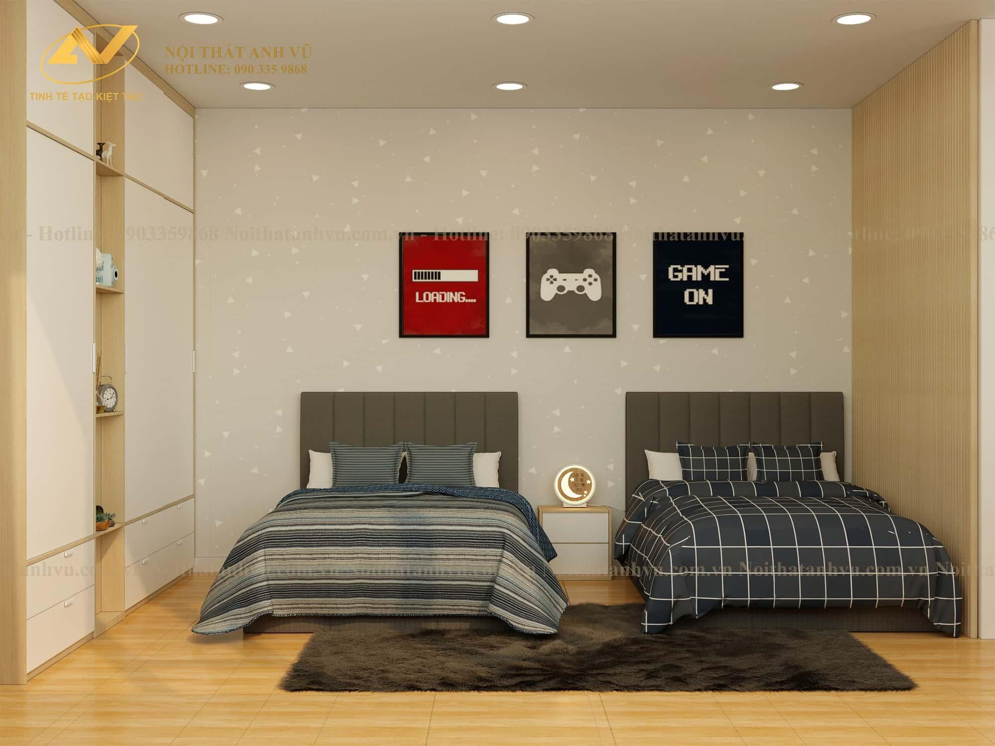 Nội thất phòng ngủ hiện đại Mr. Luật - Nội thất Anh Vũ