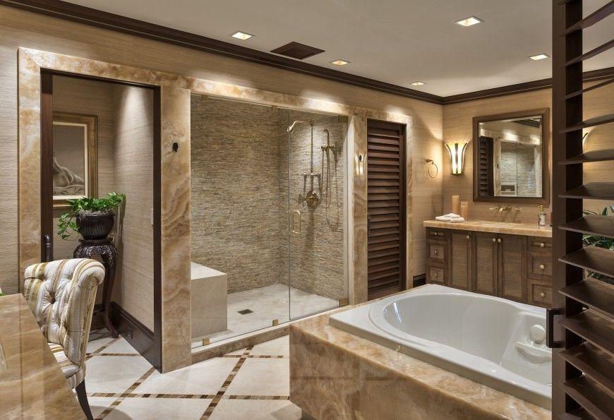 Phòng tắm kính tiết kiệm không gian cho nội thất biệt thự mini