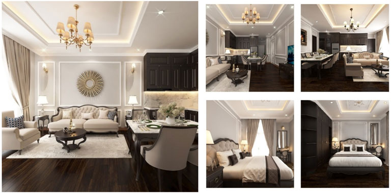 Phòng ngủ khách sạn VIP - Nội thất Anh Vũ