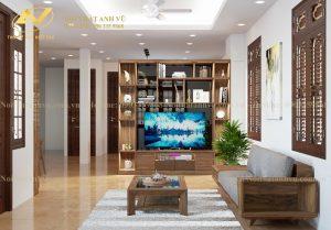 Thiết kế nội thất phòng khách đẹp Ms Tố Như - Nội thất Anh Vũ