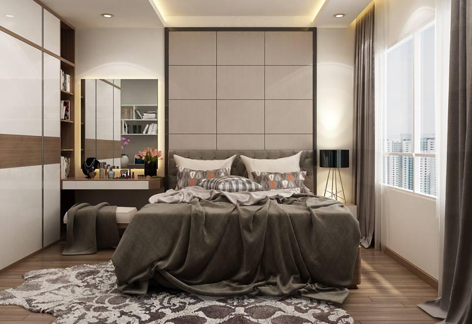Phòng ngủ bằng gỗ công nghiệp hiện đại, thời thượng - Nội thất Anh Vũ