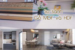 So sánh gỗ MDF và HDF