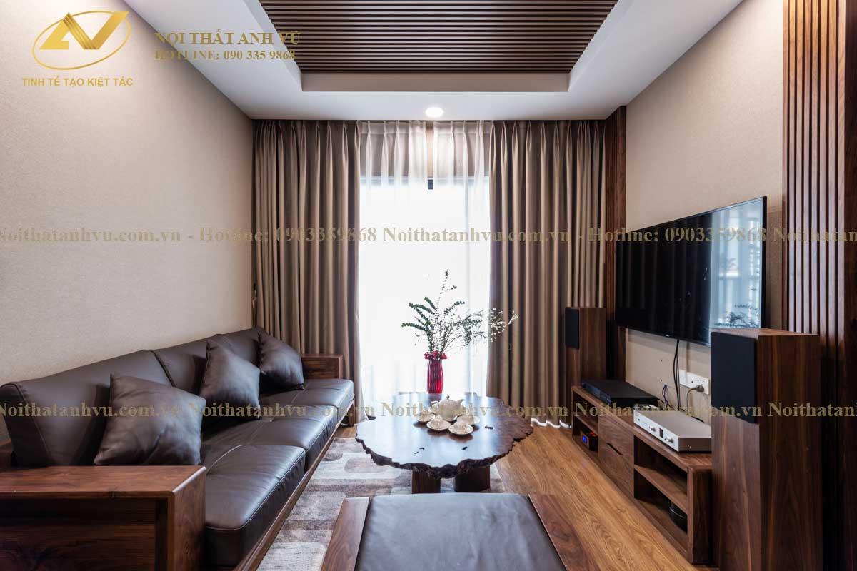 Thi công nội thất chung cư đẹp cho Mr. Phước - Nội thất Anh Vũ