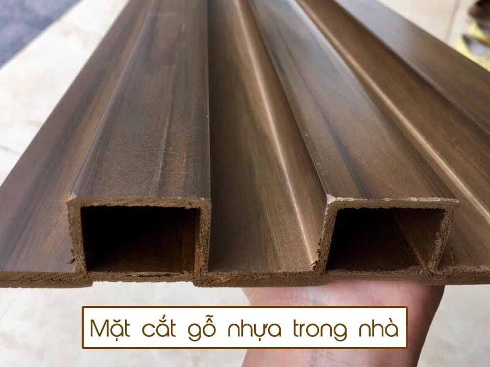 Mặt cắt gỗ nhựa trong nhà