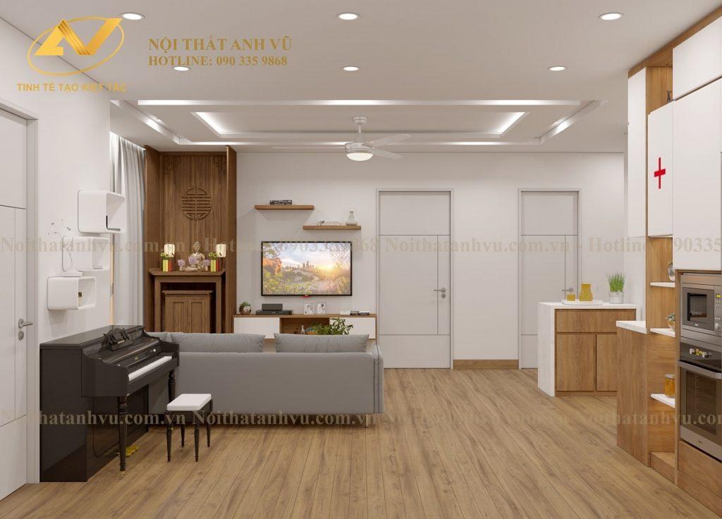 Thiết kế nội thất chung cư HomeLand 3 phòng ngủ - Mr Trung Noi-that-chung-cu-homeland-1-1024x736