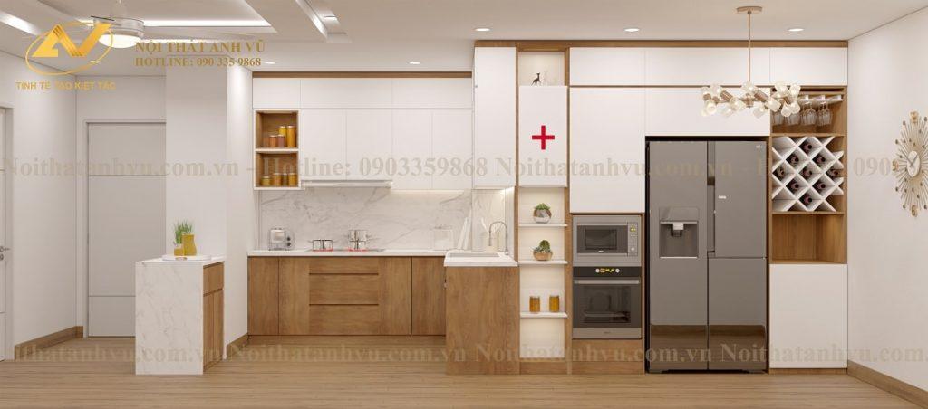 Thiết kế nội thất chung cư HomeLand 3 phòng ngủ - Mr Trung Noi-that-chung-cu-homeland-2-1024x452
